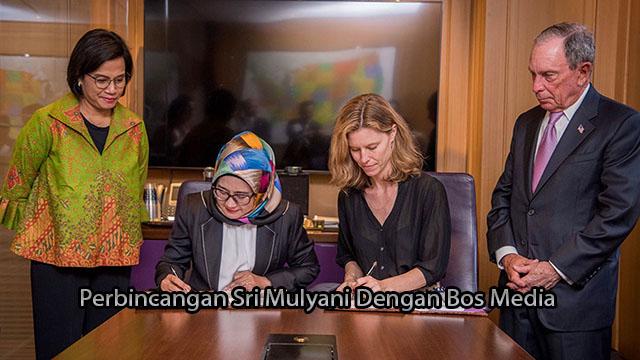 Perbincangan Sri Mulyani Dengan Bos Media Bloomberg
